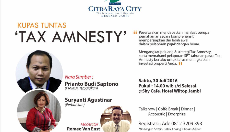 Kupas Tuntas Tax Amnesty
