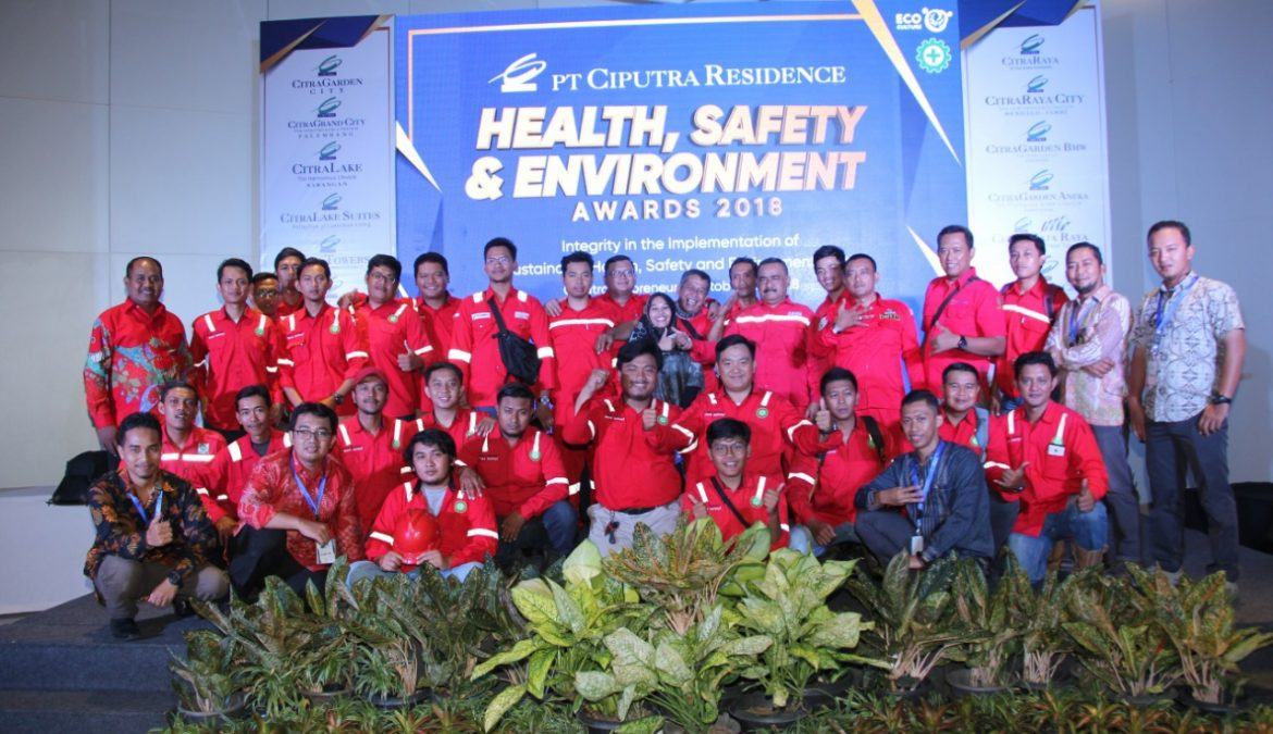 4th HSE Awards 2018; Tahap Pendewasaan Budaya Health, Safety & Environment PT Ciputra Residence