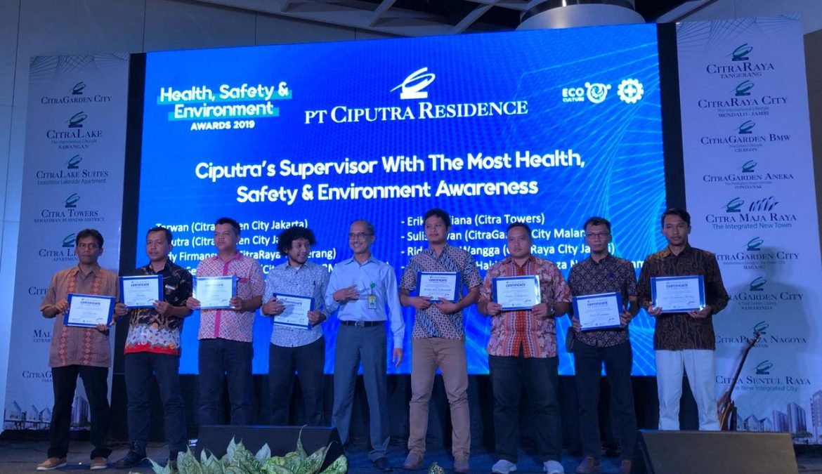 5th HSE Awards 2019; Health, Safety & Environment Akar Budaya PT Ciputra Residence Ciptakan Zero Accident